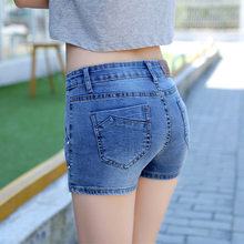 Euro Stil Frauen Denim Shorts Plus Größe 3XL Vintage Jeans Shorts Rock Hosen Straße Tragen Sexy Shorts Für Sommer Tops LX115(China)
