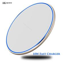 AKAKCOCO Mirror QI Wireless Fast Charger 10W Desktop for iphone xr max 8 11 xiaomi mi samsung in Mobile Phone Chargers Pad Light