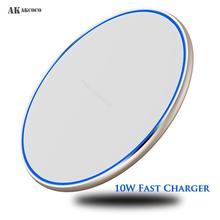 AKAKCOCO зеркало QI Беспроводное быстрое зарядное устройство 10 Вт настольное для iphone xr max 8 11 xiaomi mi samsung, мобильный телефон, зарядные устройства, Pad Light
