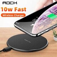 Rock 10 w rápido carregador sem fio para iphone 11 x xs max xr carga rápida 3.0 qi sem fio carregador almofada para samsung huawei xiaomi|Carregadores sem Fio| |  -