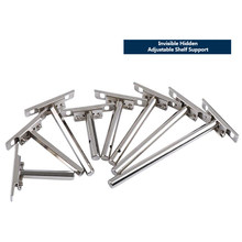 2Pcs DIY Invisible Floating Shelf Brackets Adjustable Blind Shelf Floating Support Brackets Concealed Mount for Home Wall