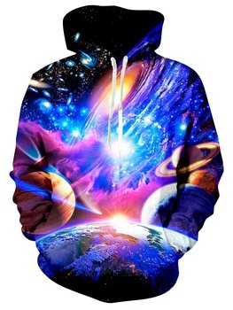 Galaxy Space Hoodie for Men Women 3D Printed Pullover Unisex Long Sleeve Cool Sweatshirts Pockets Hooded with Velvet men unisex pitbull limited edition 3d dog print zipper hoodie long sleeve sweatshirts jacket pullover tracksuit