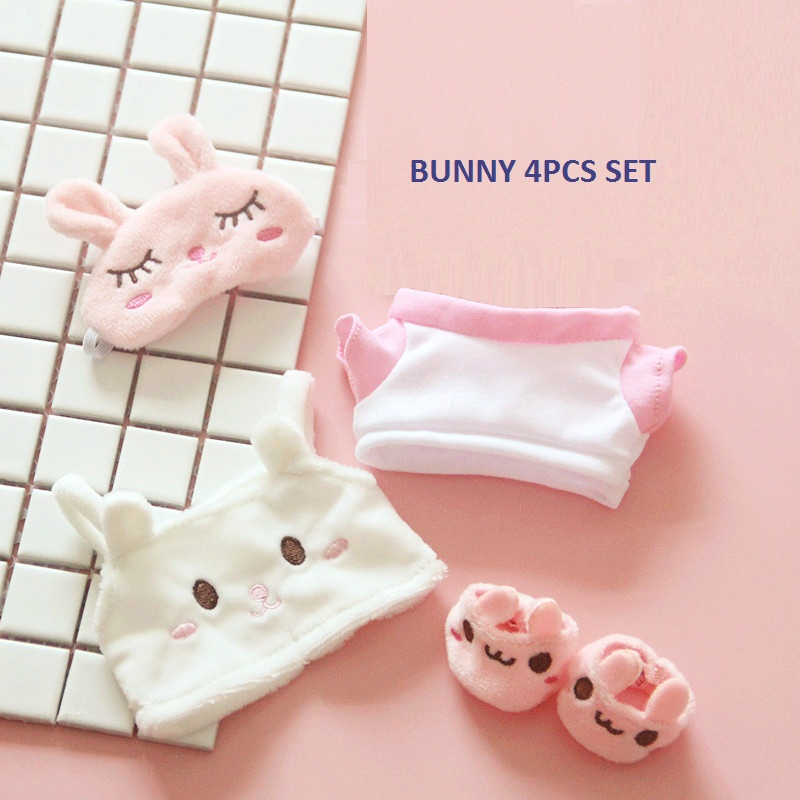 [MYKPOP] KPOP куклы Одежда и аксессуары-кролик 4 шт набор для 20 см куклы(без куклы) EXO/Bangtan SA19112403