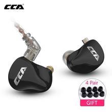 Cca CA16 7BA + 1DD Hybrid Drivers In Ear Oortelefoon Hifi Monitoring Oortelefoon Headset Met 2PIN 0.75Mm Connector Cca c12 C16 Zsx Zsn