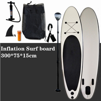Inflatable Stand Up Paddle Board Sup Board Surfboard Kayak Surf set 300*75*15cm with Backpack,leash,fins.