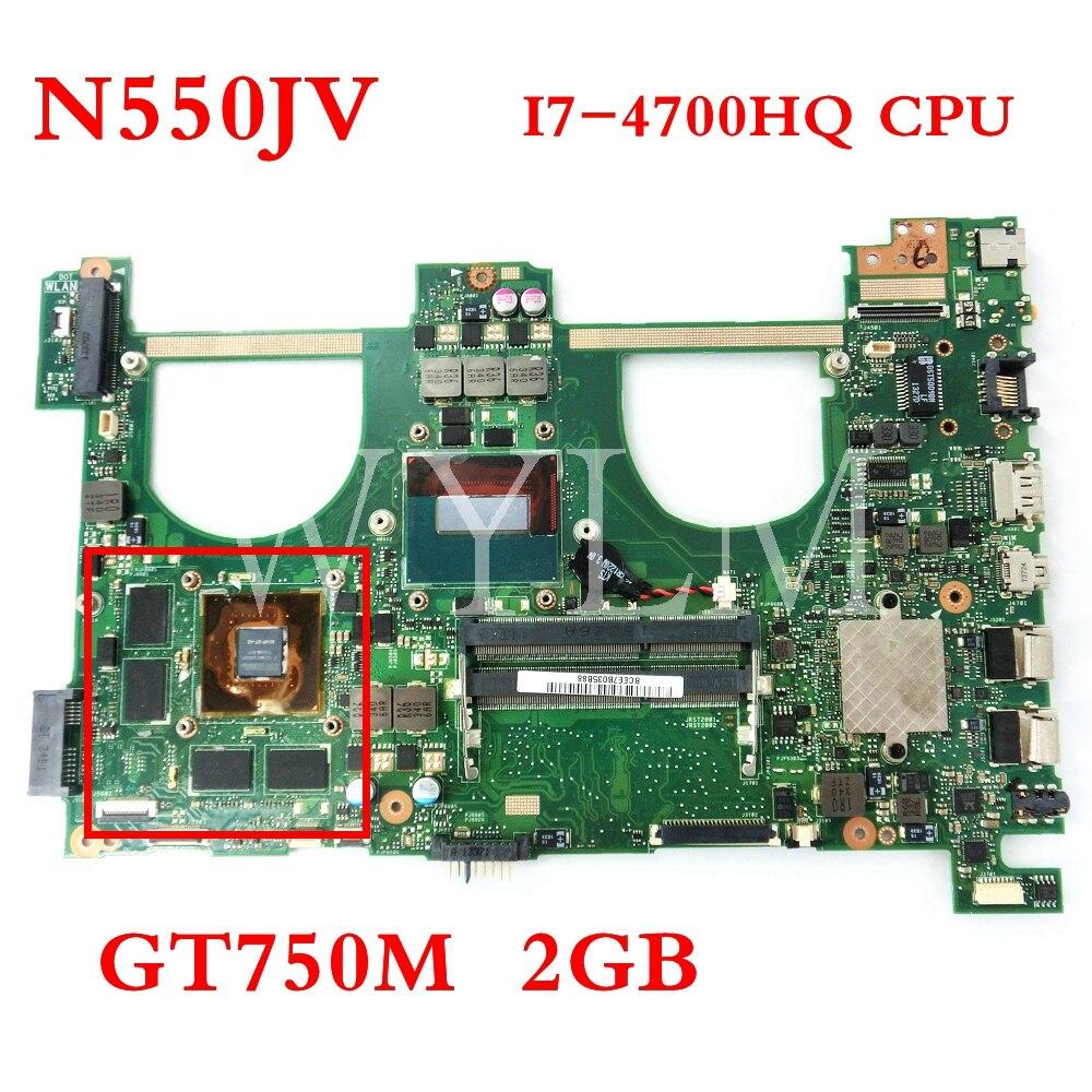 N550jv 마더 보드 i7 4700HQ gt750m/2g n550jv rev: 2.0 메인 보드 asus q550jv n550j n550jv n550jk 노트북 마더 보드 테스트-에서마더보드부터 컴퓨터 및 사무용품 의
