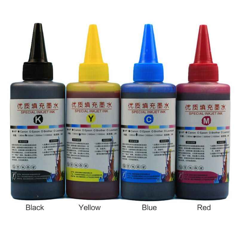 100ML Refill Ink Kit Universal Dye Printer Supplies Desktop Printing Paper Replacement for Canon PG-245 CL-246 PIXMA