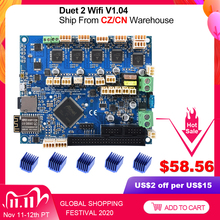 Placa base Cloned Duet 2 Wifi V1.04, 32bit, Duet2, 32 bits, para máquina CNC ender 3 pro, piezas de impresora 3D