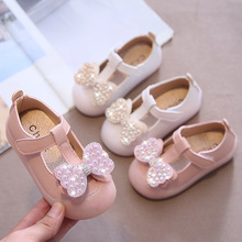 Shoes Baby-Girls for Infants Toddlers Children's Soft Flats-Bow-Knot Rhinestone Pearls