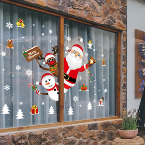 Xmas DIY Wall Sticker Merry Christmas Decoration for Home Window Sticker 2020 Christmas Ornaments New Year 2021 Decor Navidad