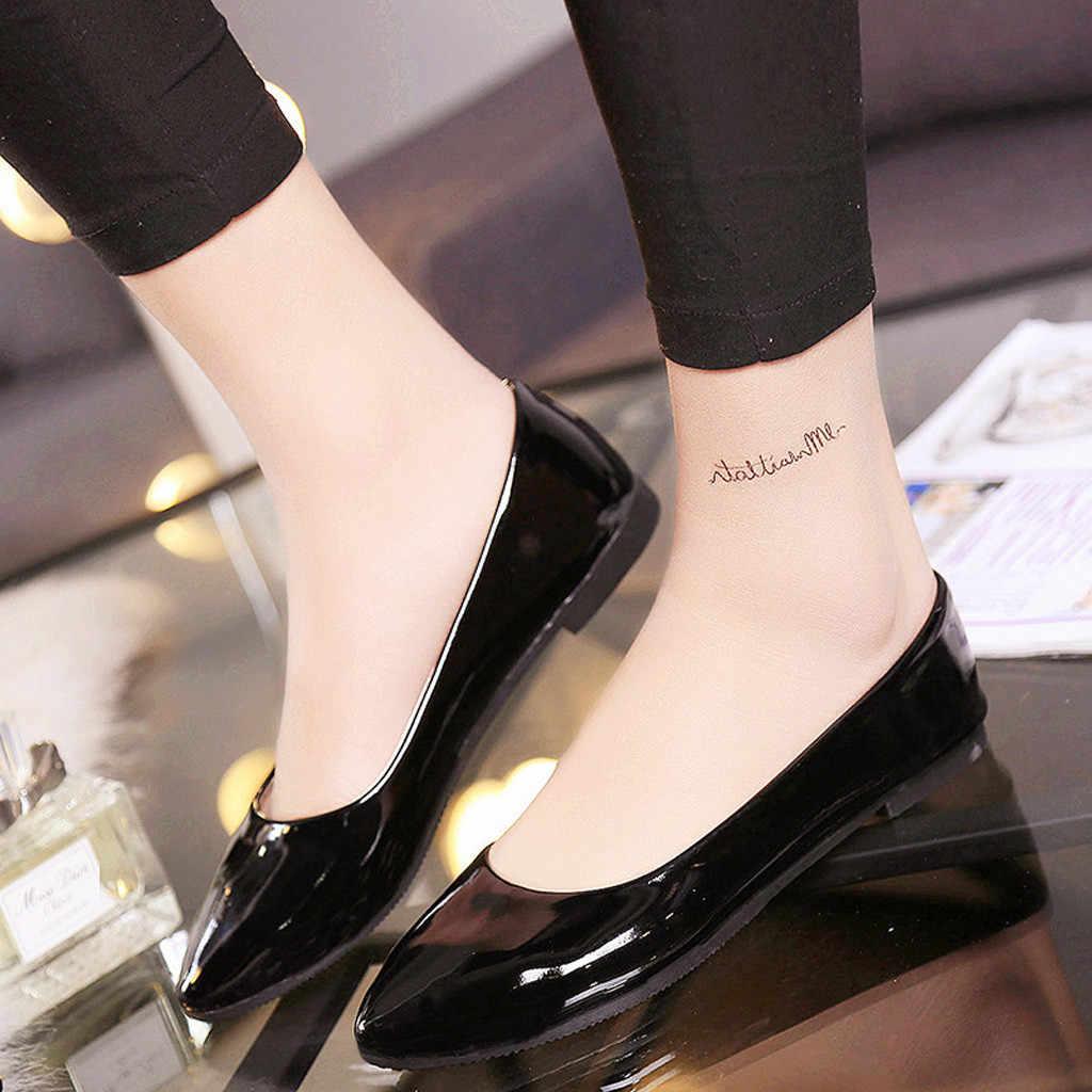 Jaycosin נשים של נעליים יומיומיות גבירותיי קרסול שטוח פלוק רומי מקרית נעל גומי Zapatos De Mujer Tacon Bajo