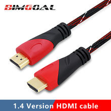 0.3M,1M,1.5M,2M,3M,5M High speed Gold Plated Plug Male-Male HDMI Cable 1.4 Version HD 1080P 3D for HDTV XBOX PS3 computer(China)