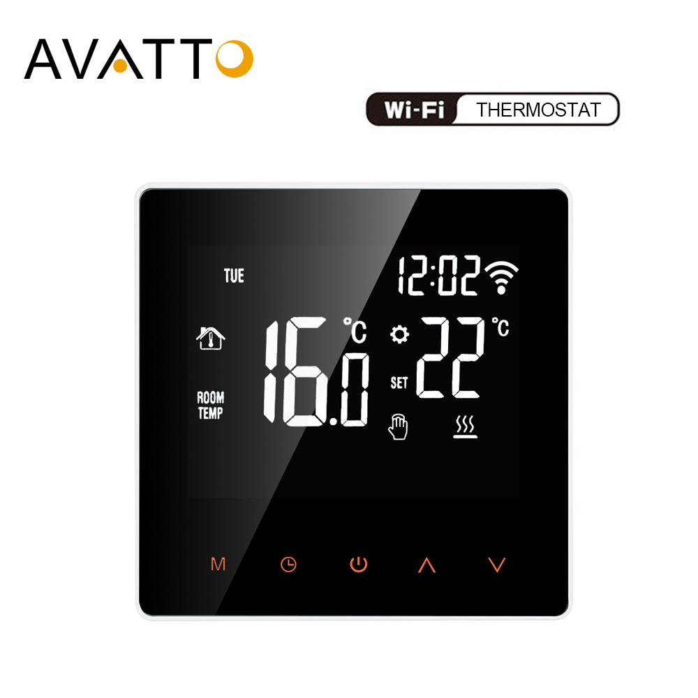 AVATTO Tuya 16A WiFi Smart Thermostat Temperature Controller For Electric Floor Heating,Water/Gas Boiler Work For Smartlife APP