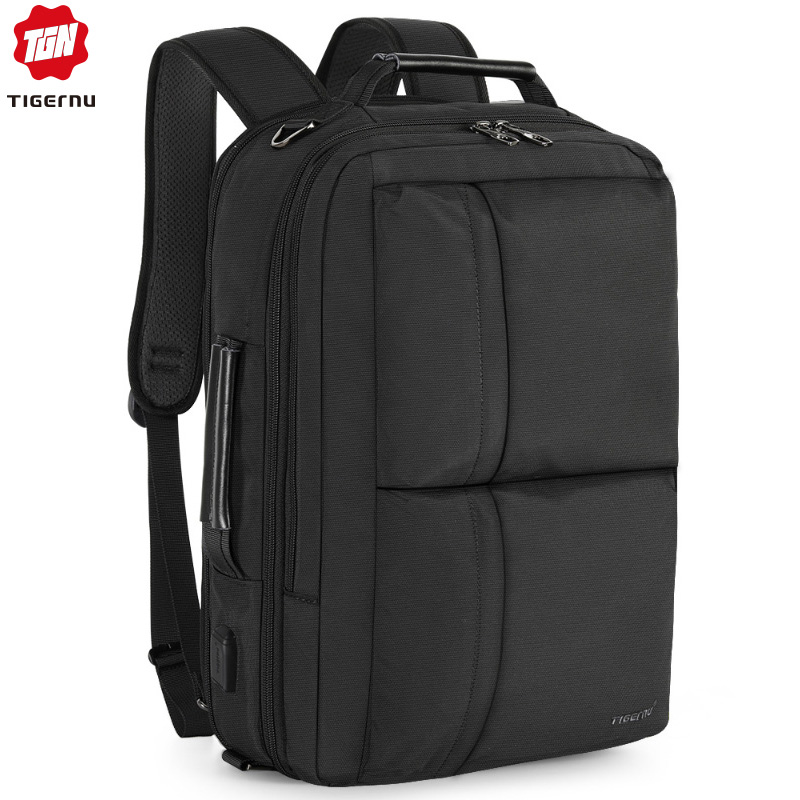 Tigernu 2020 New Expаndable Large Capacity Backpack Men Anti Theft 15.6 Inch Laptop Backpack USB Charging Waterproof School Bags