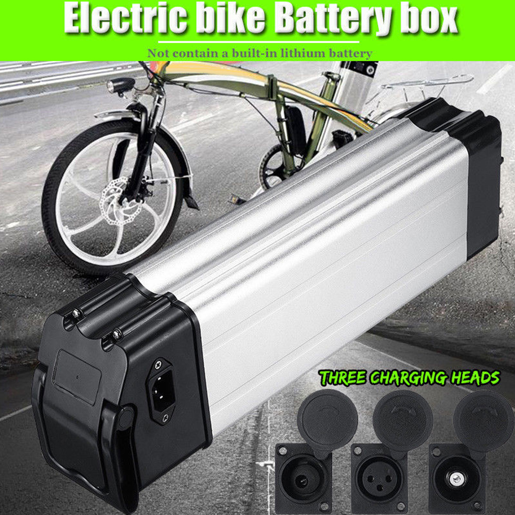 Silver 36//48V Battery Box Parts Set Holder Case For Electric Bicycle 18650