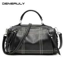 2019 Quilted Genuine Leather Bag For Women Vintage High Quality Ladies Crossbody Bags Luxury Handbags Cow