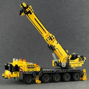 Image 5 - SEMBO Fit Technic мобильный кран создатель экспертных идей набор кирпичей 665 шт. городской инженер Краб строительные блоки игрушки Детский подарок