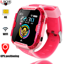 LIGE 4G smart watch waterproof children phone camera GPS WI-FI SOS video call monitoring tracker babys