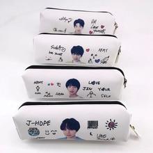 Kpop сумка Bangtan чехол-карандаш для мальчиков, косметичка, сумка-карандаш, сумочки, складские принадлежности для макияжа, сумка для хранения