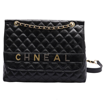 191212 iVog New Arrival Everyday Female Small Black Quilted Chain Crossbody Messenger Handbag PU Hand Bags for Women 2019