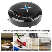Robot Vacuum Cleaner Intelligent Floor Sweep Robot Floor Dirt Dust Hair Cleaner USB Charging Mopping Automatic Robot for Home