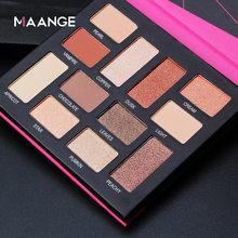MAANGE new 12-color sunset maple leaf milk tea color matte pearlescent bean paste eye shadow palette makeup tool