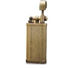 Encendedor de Pipa de Gas butano de Metal de lujo, encendedor inflable Vintage para fumar, regalo de colección