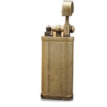 Luksusowa metalowa zapalniczka na butan Vintage nadmuchiwana zapalniczka do papierosów