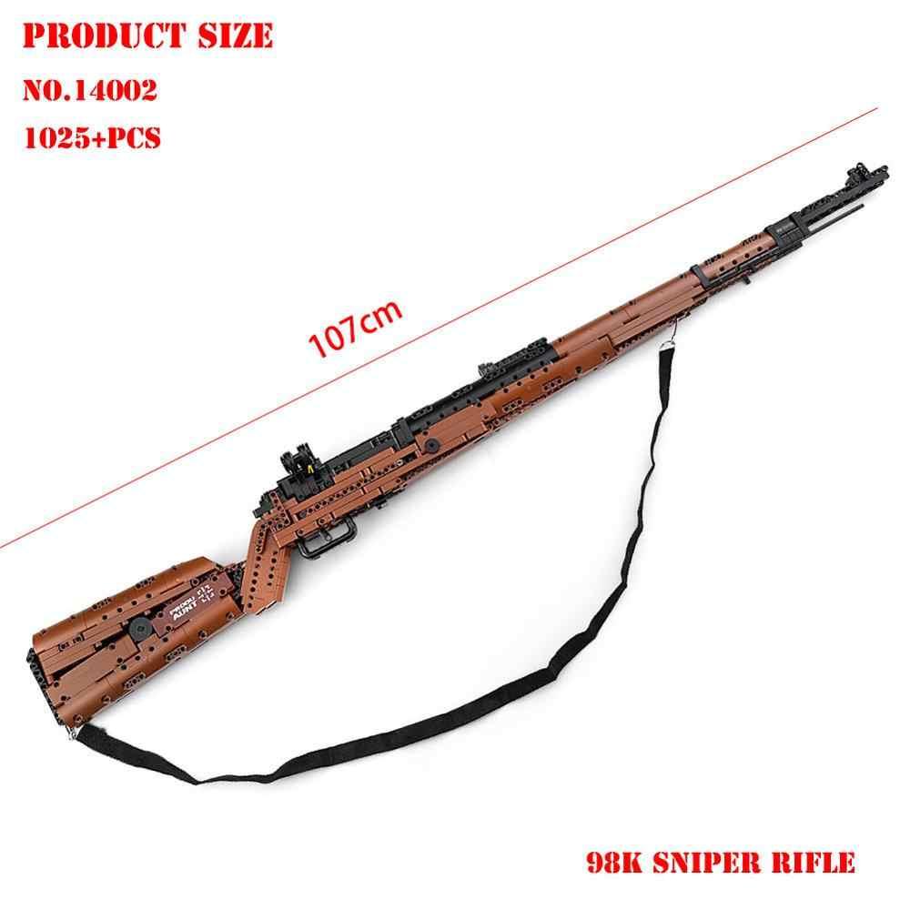 BZDA WW2 technologie blöcke Military gun kar98k Desert Eagle Sniper gun Modell Bausteine Creator kinder Spielzeug für jungen Geschenk