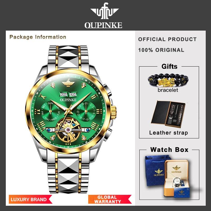 Top Luxury Brand Automatic Watch Men Mechanical Tourbillon Sapphire Tungsten Steel Waterproof Wrist Watches Relogio Masculino 6