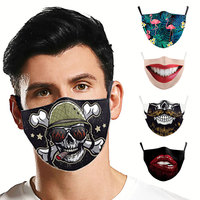 Adult Protective Washable Windproof Anti pollution Anti Dust Face Mouth Mask Black Mask Care Respirator Fashion