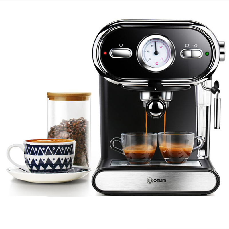 Donlim <font><b>DL</b></font>-<font><b>KF5002</b></font> 20BAR Coffee Machine High Pressure Extraction Espresso Coffee Semi-automatic Steam Type for Home Baking image