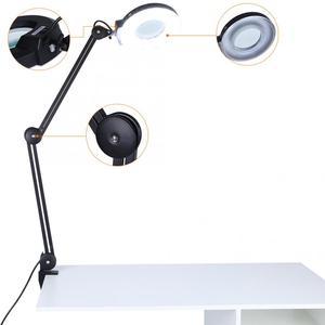 Image 3 - Professionelle Beleuchtung Schönheit Kosmetische Tattoo Maniküre 5x Vergrößerungs Beleuchteten Schreibtisch Lupe Licht Lampe Mit Clamp beleuchtung