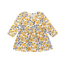 Princess Kids Baby Girls Floral Dress Long Sleeve Party Pageant Dress Clothes newborn baby girls floral long sleeve party pageant prom formal dress long sleeves girls cotton dress clothes