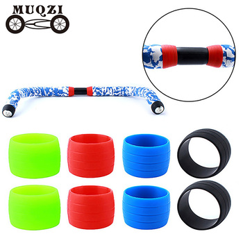 MUQZI Mountain Road Bike Bend Fixed Gear Bicycle Handlebar Tape Take The Belt Lace Anti-Loose Bundle Set image