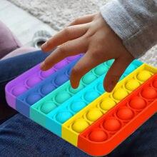 Fitget brinquedos pop it jogo para o miúdo adulto empurrar bolha brinquedo sensorial autismo necessidades especiais alívio do estresse popoit figet speelgoed