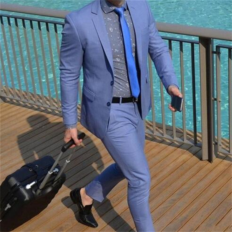 New Men's Suit Smolking Noivo Terno Slim Fit Easculino Evening Suits For Men Two Buttons Tailed Coat Men Suit 2Pieces(Jacket+Pan