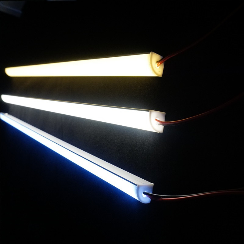12VDC 50cm 20inch led cabinet bar light ,diode invisible corner profile with 5050 2835 high brightness tape ,V shape rigid strip
