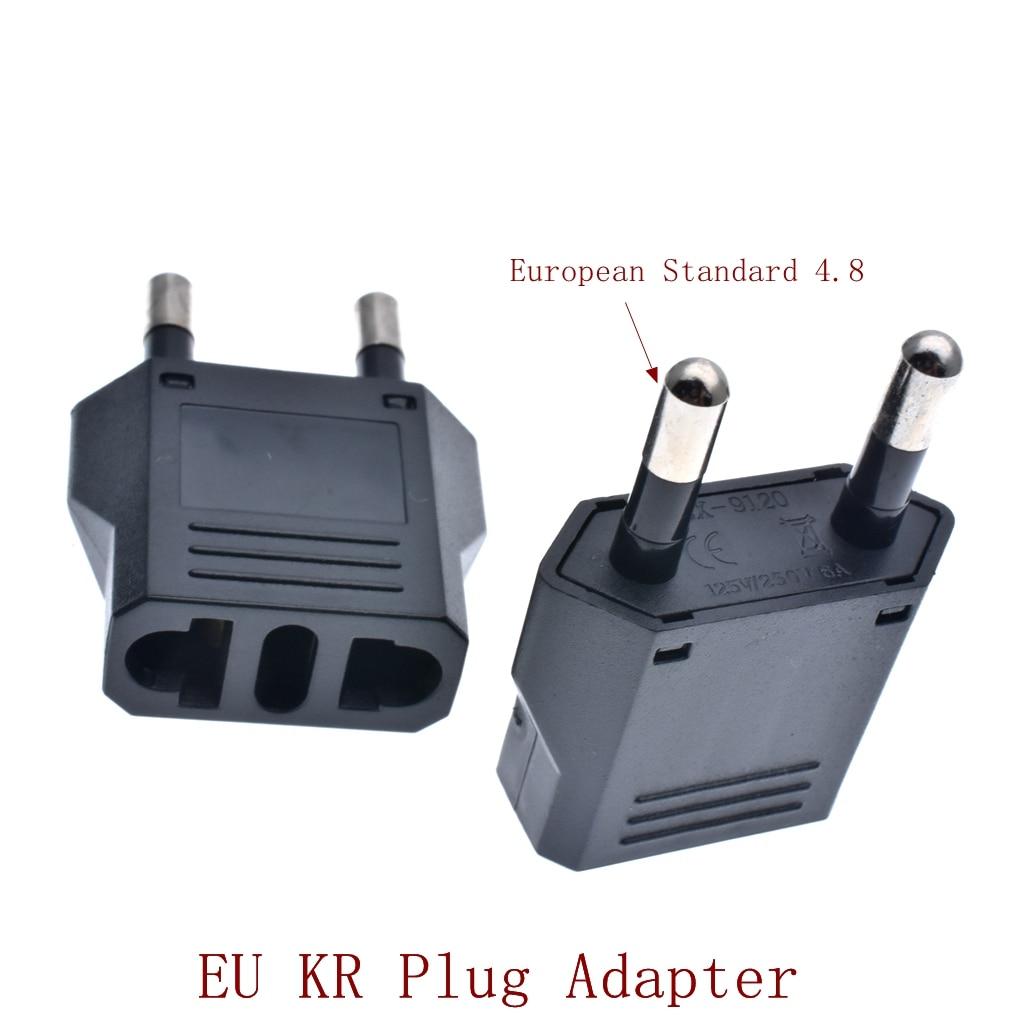 EU KR Plug Adapter Japan China US To EU дорожный адаптер питания, электрическая вилка, конвертер, зарядное устройство, розетка переменного тока