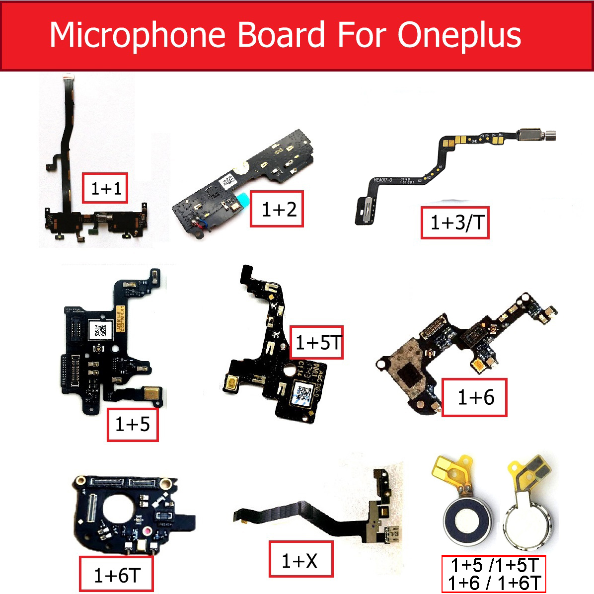 100% NEW Microphone Board Module For OnePlus 1 2 3 3T 5 5T 6 6T Vibrator Motor Mic Flex Cable Replacement Parts High Quality