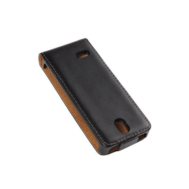 Luxury pu Real Leather Case Flip Cover Mobile Phone Accessories Bag Retro Vertical For Nokia 515 N515 PS