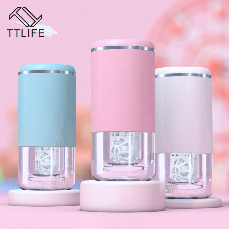 TTLIFE Contact Lens Cleaner Ultrasonic Lens Case Cute Cartoon Contact Lens Cleaning Machine Automatic Automatic Cleaner YJHH0638