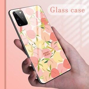 Милый чехол для телефона из закаленного стекла с фруктами для Samsung Galaxy S20 Ultra S10 E 5G S9 S8 Note 10 9 8 Plus, цветной защитный чехол