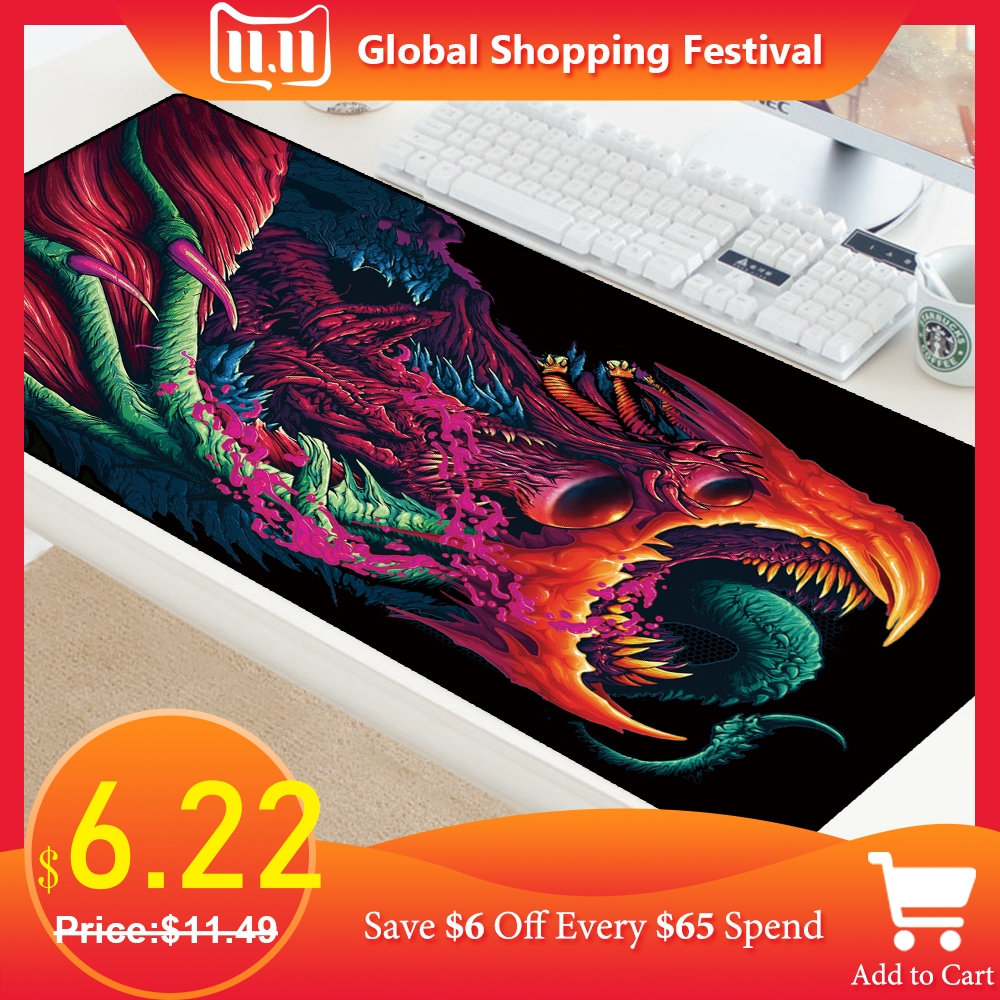 Image 1 - Large Size Gaming Mouse Pad Mat Grande for CS GO Hyper Beast Gamer XL XXL Computer Mousepad Game for Csgo Muismat PC 900x400mm-in Mouse Pads from Computer & Office
