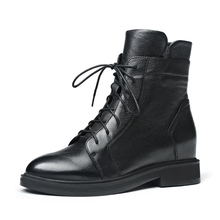New womens ankle boots autumn and winter models high to help shoes brand quality fashion  women