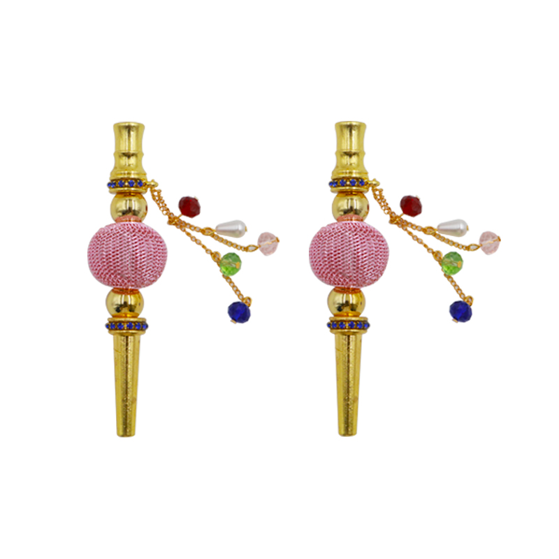 1PC New Hight Quality Metal Fashion Creative Handmade Inlaid Jewelry Tobacco Hookah Mouth Narguile Filter Hookah Mouthpiece