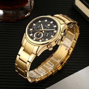 Image 4 - Мужские наручные часы WWOOR, роскошные золотые наручные часы с хронографом, 2019