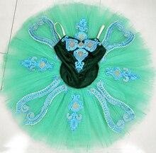 Emerald green Classical Pre-Professional Ballet Pancake Tutu Ballerina Costume Adult women ballet Dance  wear