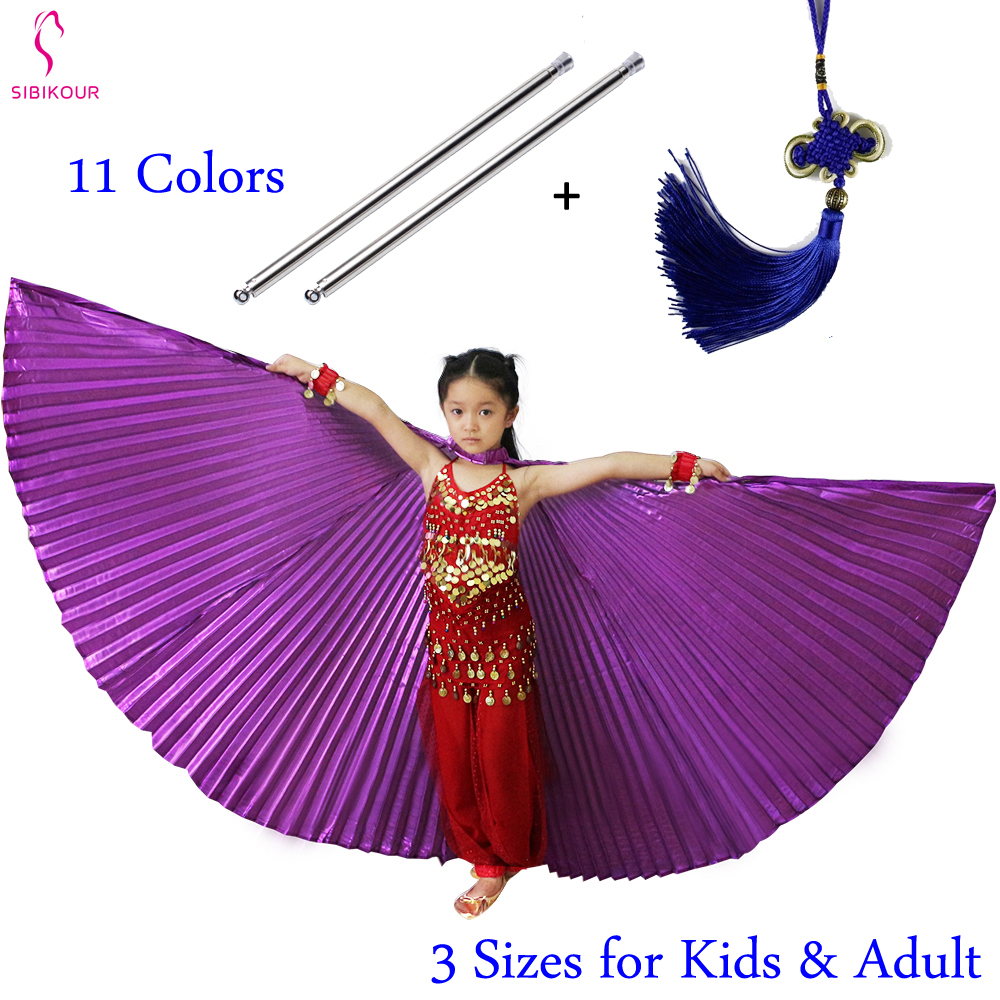 Belly Dance Wings With Sticks For Kids Bollywood Oriental Design Egypt Isis Wings Egyptian Wings Costume Dance Accessories Girls