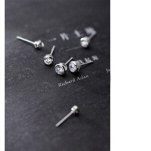 Женские и детские серьги-гвоздики MloveAcc, маленькие круглые серьги из стерлингового серебра 925 пробы с кубическим цирконием 4 мм 5 мм 6 мм, подар...